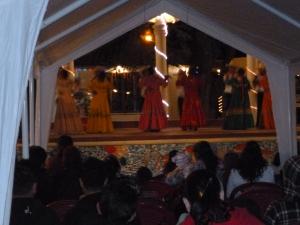 Here, a group of dancers perform in La Esperanza's main plaza.