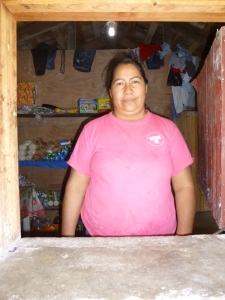 Serapia's convenience store will soon be ready to sell meat and other frozen products, thanks to her coming Individual Loan!