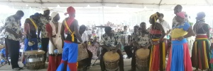 Celebrating the rhythm of La Punta during the 216th Anniversary Celebrations of the arrival of the Garifuna to Honduras