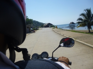 The closest I got to the beach that weekend was on the back of the motorcycle traveling between clients' homes.